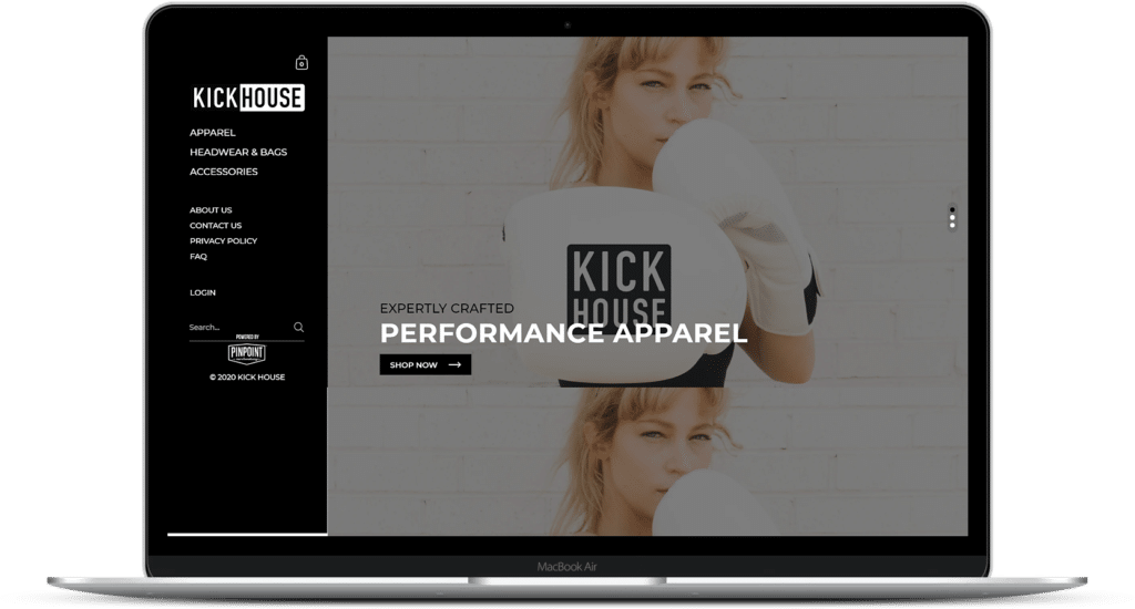 KickHouse Shopify website
