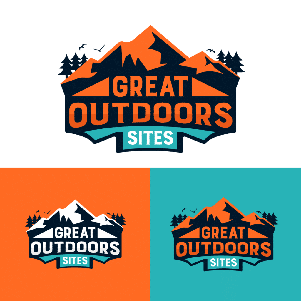 Great Outdoors Website Logo and Brand