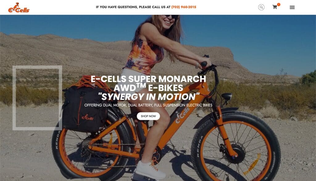 E-Cells Woocommerce Website