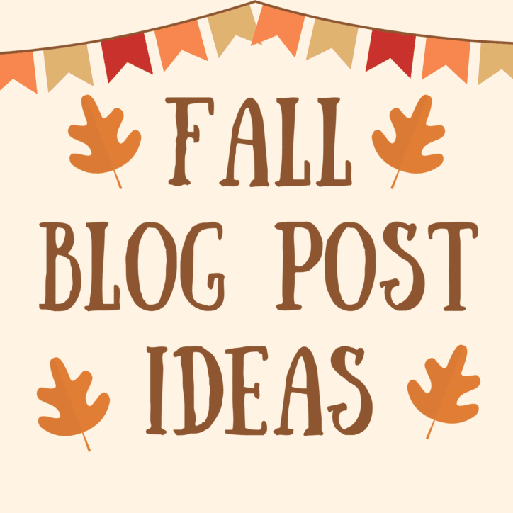 """Leaves and fall banner with text that says """"Fall Blog Post Ideas"""""""