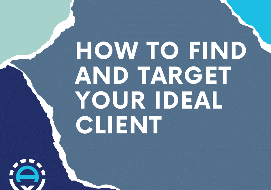 """Torn paper that says """"how to find and target your ideal client"""" with WebArc logo"""